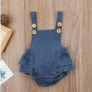 "Other - NWT Blue ""jean"" Romper"